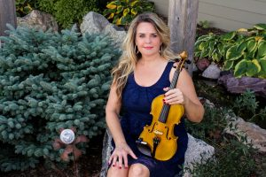 blue-dress-violin-sitting